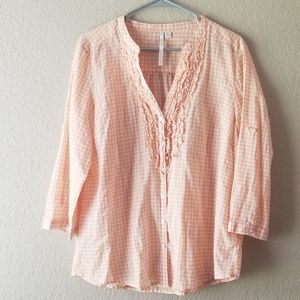LC Lauren Conrad Button Down Blouse
